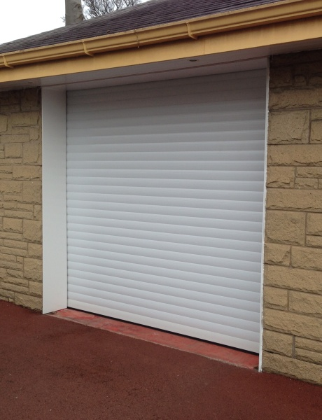 White insulated garage roller white insulated garage roller 2 extruded