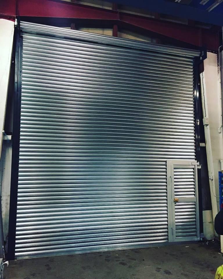 Industrial Roller Shutter With Wicket Gate Rochdale